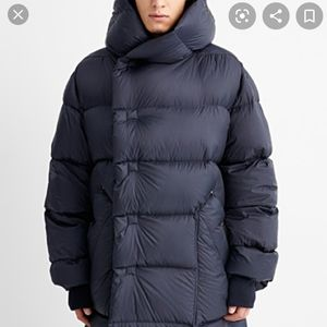 RICK OWENS Oversized Hooded Down Puffer Coat